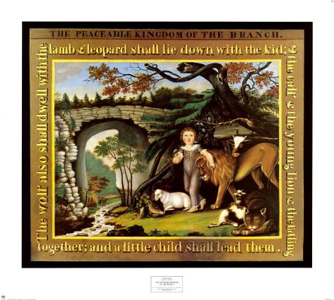 The Peaceable Kingdom of the Branch Art Print