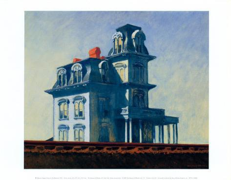 House by the Railroad, 1925 Art Print