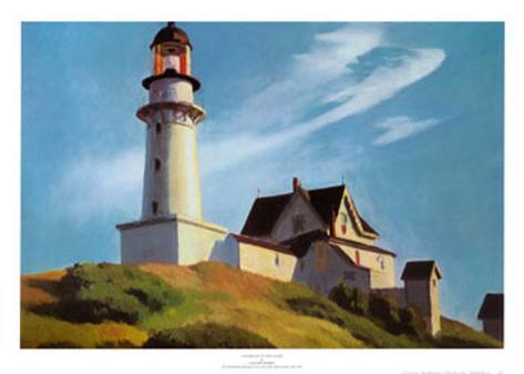 Lighthouse at Two Lights Art Print