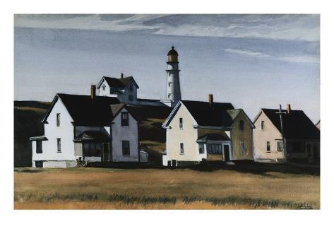 Lighthouse Hill, Cape Elizabeth, Maine Giclee Print