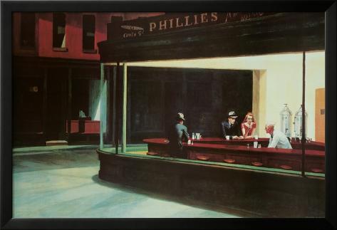 Nighthawks, c.1942 Lamina Framed Poster