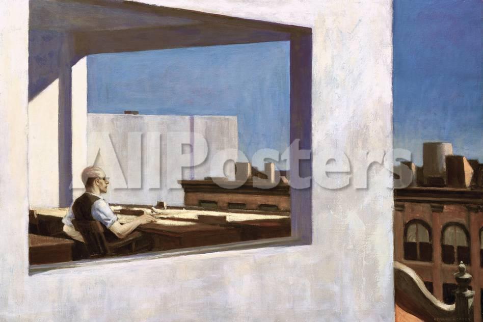 Office in a Small City, 1953 Lámina giclée por Edward Hopper en ...