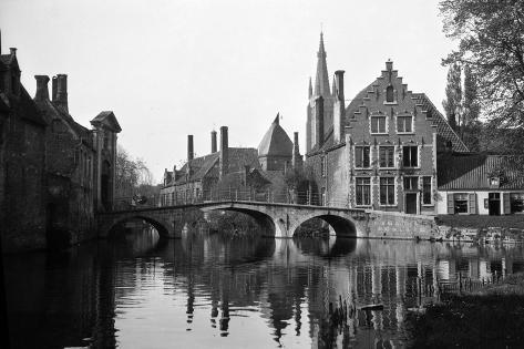 Bruges, Belgium, 1922 Lámina fotográfica