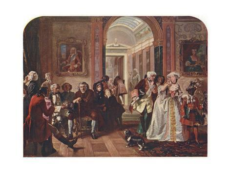 Doctor Johnson in the Ante-Room of Lord Chesterfield, Waiting for an Audience, 1748 Giclee Print