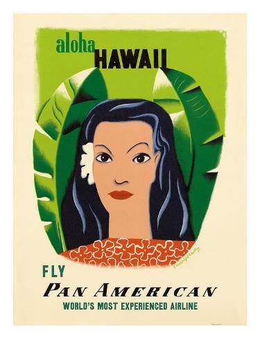 Aloha Hawaii, Fly Pan American Airways, c.1953 Giclee Print