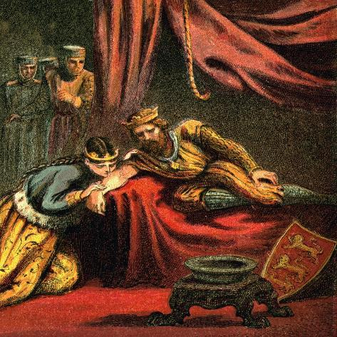 Edward of Woodstock, Prince of Wales, with His Wife, Joan, Princess of Wales, C1850 Giclee Print