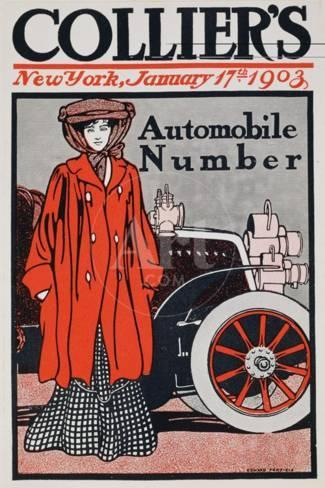 Cover Illustration for the Automobile Number, Collier's Magazine, January  17th 1903 Giclee Print by Edward Penfield - by AllPosters.ie