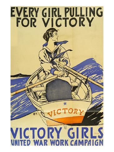 Every Girl Pulling for Victory Stampa artistica