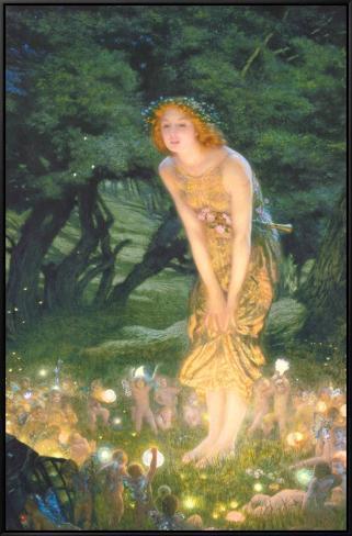 Tarde em meados do verão, cerca de 1908 Impressão em tela emoldurada