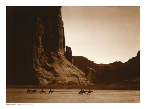 Navajos, Canyon De Chelly, c.1904 Art Print
