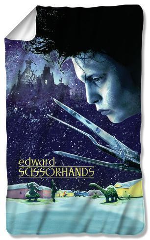 Edward Scissorhands - Movie Poster Fleece Blanket Fleece Blanket