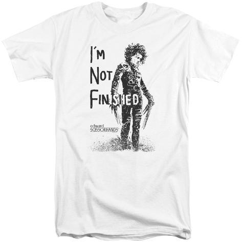 Edward Scissorhands- Not Finished (Big & Tall) T-Shirt