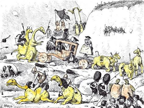 Prehistoric Lord Mayor's Show Giclee Print