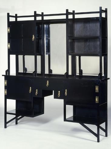 A William Watt Ebonised Side Cabinet Giclee Print