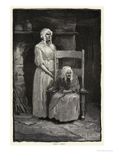 Marie Laveau the Queen of the Voodoos at New Orleans in the Last Year of Her Life Giclee Print