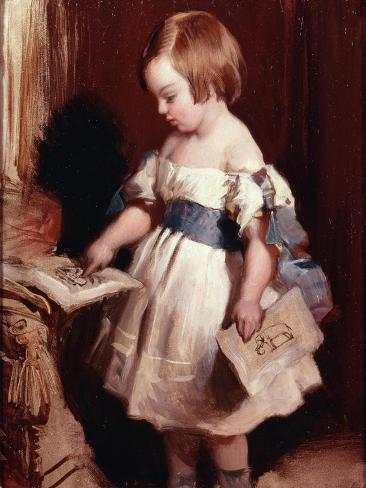 Child with a Drawing Lámina giclée