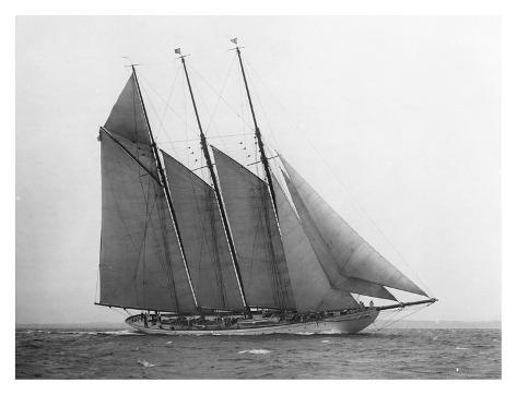 The Schooner Karina at Sail, 1919 Art Print