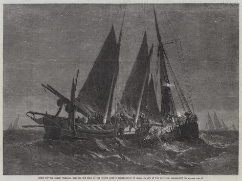 Fight Off the North Foreland Between the Crew of the Prince Arthur Fishing-Smack of Ramsgate and of Stampa giclée