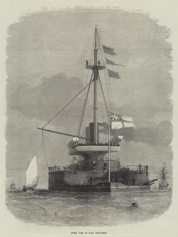 Stern View of HMS Thunderer Stampa giclée