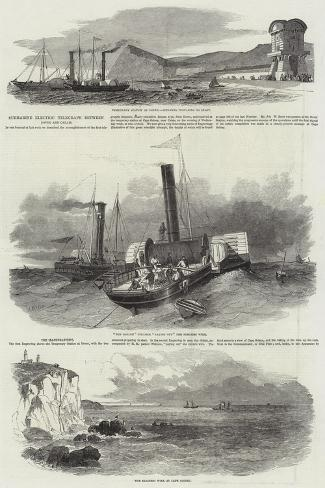 Submarine Electric Telegraph Between Dover and Calais Stampa giclée