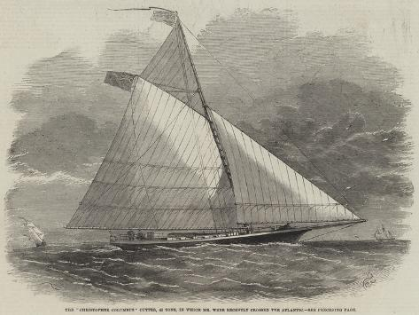 The Christopher Columbus Cutter, 45 Tons, in Which Mr Webb Recently Crossed the Atlantic Stampa giclée