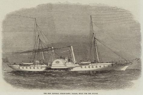 The New Imperial Steam-Yacht, Taliah, Built for the Sultan Stampa giclée