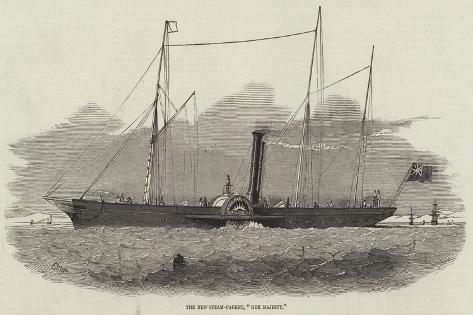 The New Steam-Packet, Her Majesty Stampa giclée