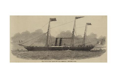 Trial Trip of the Baron Osy, Iron Steam-Ship Stampa giclée