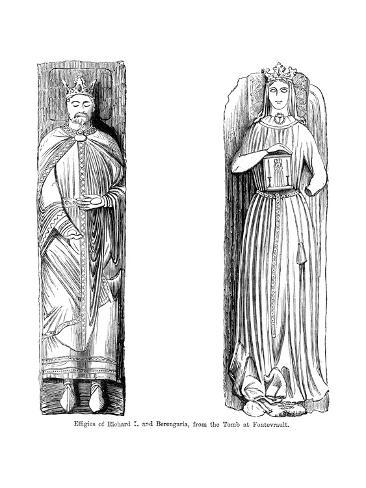 Effigies of Richard I and Berengaria, from the Tomb at Fontevrault Abbet, France Giclee Print