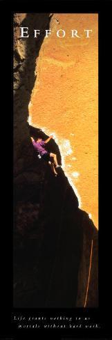 Effort: Rock Climber Art Print