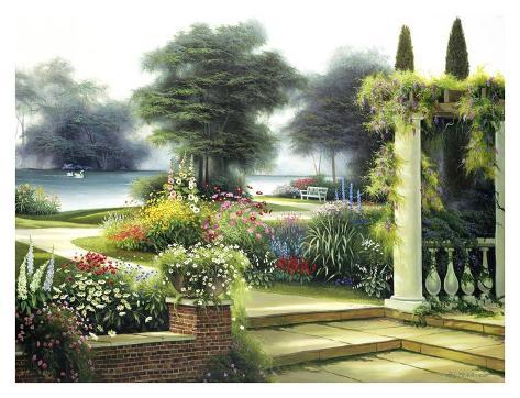 Summer Home Garden Art Print