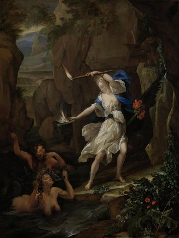 Circe Punishes Glaucus by Turning Scylla into a Monster Art Print