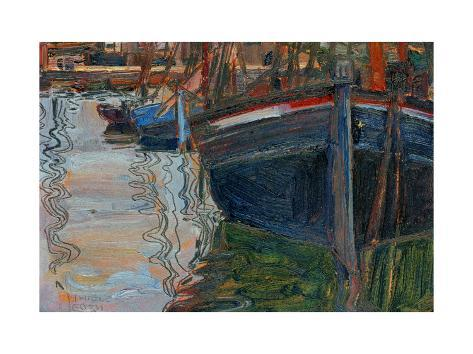 Boats Mirrored in the Water, 1908 Giclee Print
