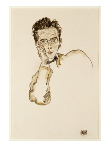 Portrait of the Art Dealer, Paul Wengraf, 1917 Giclee Print