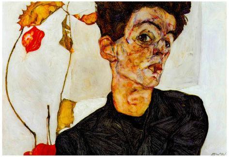 Egon Schiele Self-Portrait Art Print Poster Poster