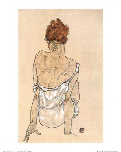 Zittende Vrouw on the Rug Art Print