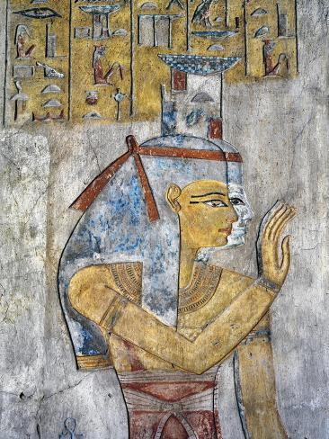 Egypt, Thebes, Luxor, Tomb of Tausert, Mural Painting of Nephthys in Antechamber Giclee Print