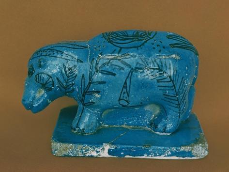 Blue Hippopotamus with Black Decoration, from Dra Aboul Naga, Middle Kingdom Giclee Print