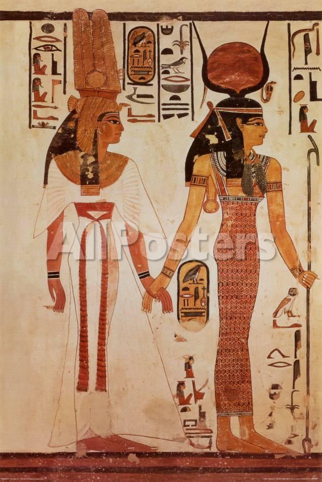 Egyptian Art - Nefertari Lámina en AllPosters.es