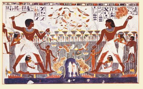 Egyptian Art - Tebe 1410 A.C. Art Print