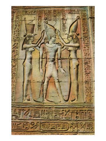 Egyptian Bas-Relief Art Print
