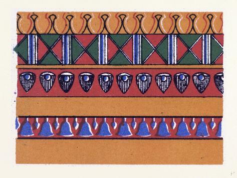 Egyptian Ornament Stampa giclée