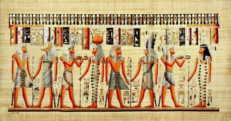 Egyptian Papyrus, Design VI Art Print