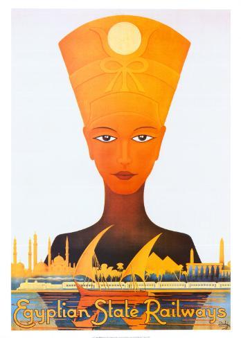 Egyptian State Railways Art Print