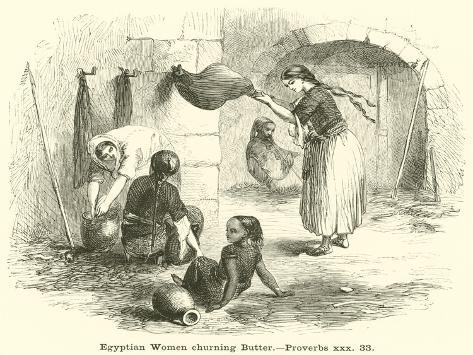 Egyptian Women Churning Butter, Proverbs, Xxx, 33 Lámina giclée