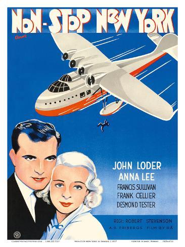 Non-Stop New York - Starring John Loder and Anna Lee - Directed by Robert Stevenson Art Print