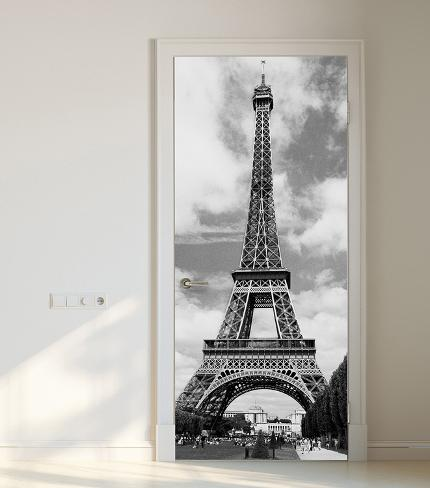 Eiffel tower door wallpaper mural wallpaper mural for Eiffel tower mural black and white