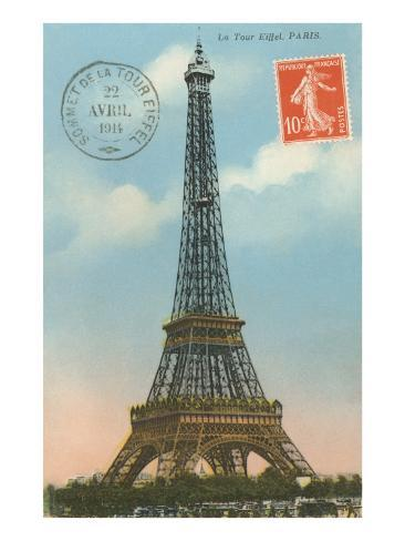 Eiffel Tower, Paris, France Art Print