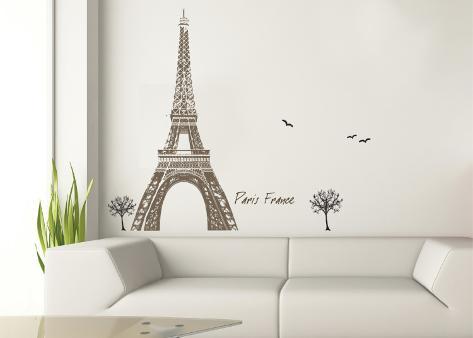 Eiffel Tower Wall Decal Sticker Wall Decal