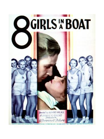 Eight Girls in a Boat - Movie Poster Reproduction Art Print